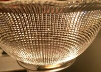 "Antique Brilliant  Prismatic Clear Glass Gas Lamp Shade Ribbon Top 4"" Fitter"