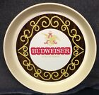 """70's/80's Vintage Budweiser King of Beers 13"""" Round Plastic Serving Tray"""