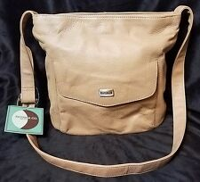 "NWT Stone & Co. tan/beige ""Light Camel"" faux leather purse, several compartments"