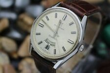 Vintage BUCHERER DiaMatic Day Date Automatic Stainless Steel Men's Dress Watch