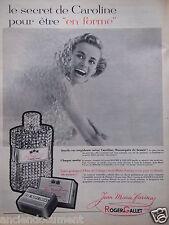 PUBLICITÉ 1958 EAU DE COLOGNE ROGER & GALLET DE JEAN MARIE FARINA - ADVERTISING