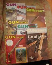 Lot of 8 Gun Sport Gunfacts Magazines 1968 1969 1973 Vintage Hunting Rifles