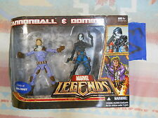 V3_13 Hasbro Marvel Legends Lot WAL MART X MEN 2 PACK CANNONBALL & DOMINO xmen