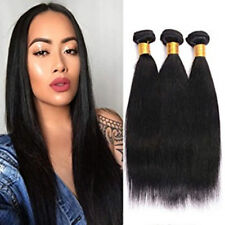 3Bundles 150G 100% Brazilian Remy Virgin Straight Wave 7A Human Hair Extensions