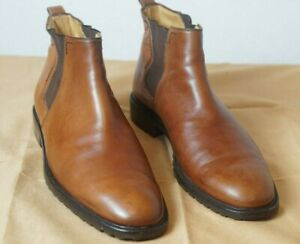 BALLY BROWN LEATHER CHELSEA BOOTS SIZE 11.5 M