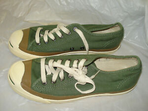 Converse Green Jack Purcell Shoes. 6 men's,  7.5 women's