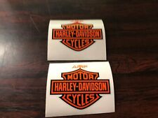 AMF GAS TANK DECALS STICKER HARLEY FX LOW RIDER SUPE SPORTSTER BAR SHIELD ORANGE