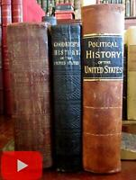 American History 1838-1888 United States lot x 3 leather illustrated Goodrich