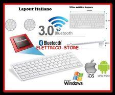 Tastiera Wireless Bluetooth Keyboard Slim per Apple iMac Macbook iPhone iPad ITA
