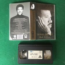(VHS) LIONEL RICHIE - BACK TO FRONT Video and Live POLYGRAM (1992)