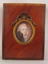 miniature epoque 18 eme revolutionnaire peinture portrait homme tableau