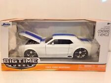 JADA 90543 BIGTIME MUSCLE 1965  FORD MUSTANG BLUE - WHITE - 1:24 SCALE