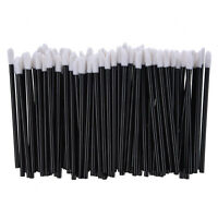 100 Count Disposable Lip Gloss Wands Applicators Thin Flocked Tip Lipstick LW