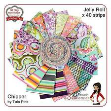 Tula Pink Fabric Chipper Jelly Roll quilting fabrics retro modern boho 70s