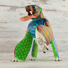 A1409 Polar Bear Alebrije Oaxacan Wood Carving Painting Handcrafted Folk Art