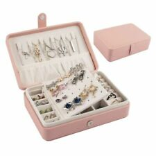 Portable Travel Jewelry Box Organizer Case for Rings Earrings Necklaces Storage