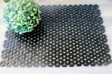 2 Bamboo BOHO Wooded Black Bead Beaded Placemat Dining Table Decor