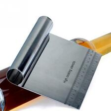 Cake Butter Cream Dough Scraper Scale Cutter Spreader Stainless Steel Practical