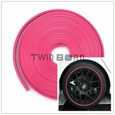 Vehicle Car Motorcycles Wheel Rims Protector Tire Guard Line Rubber Pink