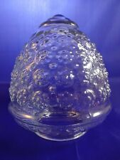 """Vintage Clear Glass Ceiling Light Fixture Shade 3"""" Fitter 5"""" Wide 5.5"""" Drop"""
