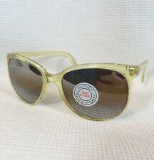 Nos Vintage 80s Neon Yellow & Silver Lens Aviator Retro Big Oversized Sunglasses