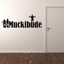 """Wandtattoo Spruch """"Muckibude"""", Sport, Fitness, Wandsticker, Wanddekoration"""