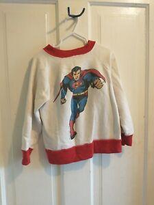 Vintage Kids Superman Shirt 1983 DC Comics Cartoon Rare