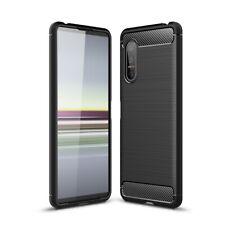 Hülle für Sony Xperia 5 II Handy Cover Silikon Case Bumper Tasche Carbonfarben