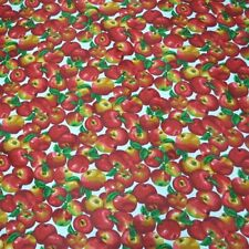 "APPLE PRINT POLY COTTON FABRIC 58"" WIDE BY THE YARD FREE SHIPPING"