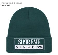 Supreme Beanie Since 1994 SS20 Teal One Size Hat Reserved Authentic box logo