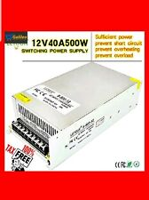 LETOUR DC 12V Power Supply 40A 500W AC 96V-240V Converter DC 12Volt 40Amp LED