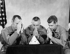 "RARE APOLLO 1 CREW ""PRAYING HANDS"" PHOTO SET SHOWING GRISSOM, WHITE AND CHAFFEE"