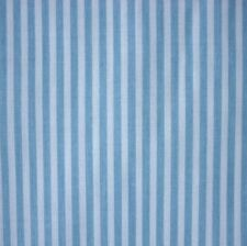 White & Blue 3mm Stripe Polycotton Fabric Pyjama P/Mtr