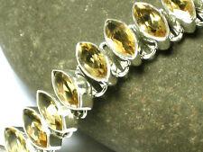 CITRINE   Sterling  Silver  925   Gemstone  BRACELET -  Gift  Boxed