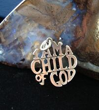 Sterling Silver Alcoholics AA Saying I am a Child of God Pendant Jewelry 176 lot