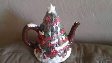 Disney Parks Mickey/Minnie Friends Christmas Tree Winter Wishes Holiday Teapot