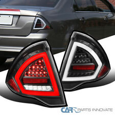 LED Tube Tail Lights For Ford 10-12 Fusion Black Brake Lamps Left+Right S/SE/SEL