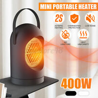 400W MINI Portable Fast Heater Heated Heating Electric Cooler Hot Fan Winter