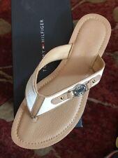 Tommy Hilfiger White/Tan Women's Thong Shoe Size 7.5 NWB