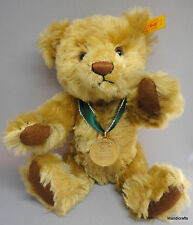 Steiff Teddy Bear 2001 Mohair Gold Medallion Danbury Mint Id Button Tag 12in Box
