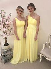 1 Shoulder Chiffon Bridesmaid Dress Wedding Sequin Prom Evening Party Ballgown