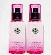2 Victoria's Secret BOMBSHELL Mini Fragrance Mist Travel Spray VANILLA PEONY