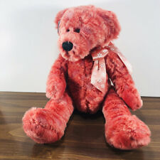 Ganz Heritage Collection Retired DAISY Plush Stuffed Bear H4153 Red Pink