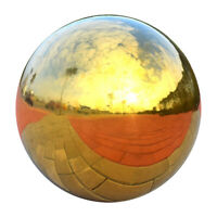 Gold Polished 304 Stainless Steel Gazing Globe,Garden Ornament, 225mm Dia.
