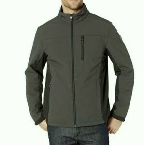 NWT $125 Tumi Men's Softshell Outerwear Seaweed with Faux Fur Lining Jacket