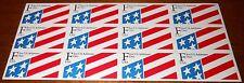 """Vintage 1991 USPS 29¢ """"F"""" NDN Flag Stamps - ATM Sheet Of 12- SC 2522 - MNH - New"""