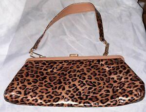 Stuart Weitzman Animal Print Clutch Handbag