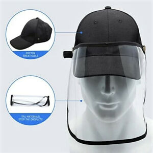 Baseball Cap with Detachable Front Face Panel