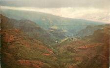 Postcard Waimea Canyon Kauai Hawaii