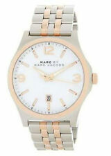 MARC JACOBS MEN'S 2 TONE STAINLESS WHITE DIAL ROSE GOLD  DATE WATCH MBM9056